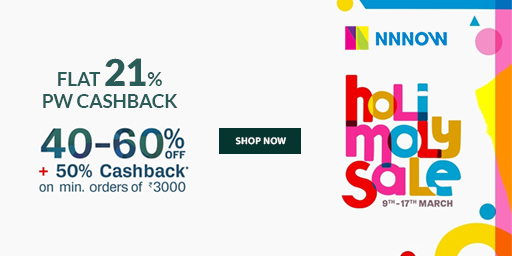 Holi Moly Sale | Flat 40-60% Off + Extra 50% Cashback On Rs.3,000 & Above