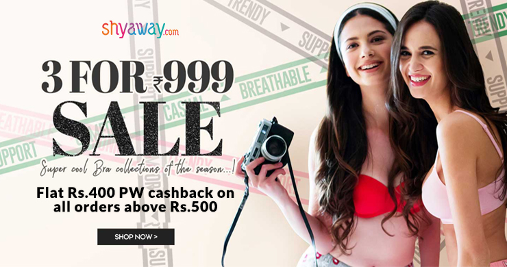 Shop For Rs.500 & Earn Flat Rs.400 Cashback