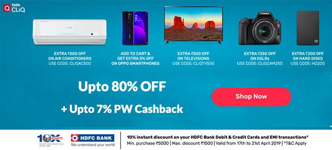 44c0e9f5069c Tata CLiQ Coupons   Offers  Upto 80% Off Promo Codes for May 2019 ...