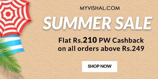 Flat 50% Off + Rs.210 Cashback on All Apparels & Accessories