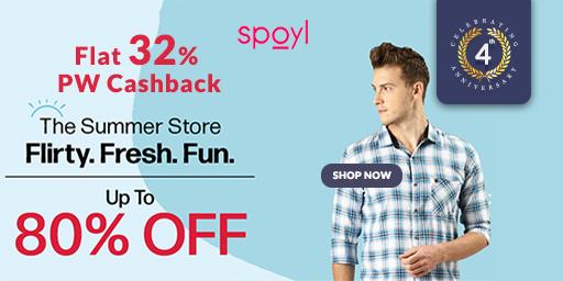 Best Offer | Upto 80% Off + Extra 20% Code on Fashion+ 32% PW Cashback