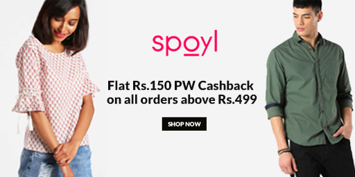 Flat Rs.150 PW Cashback on Rs.499 + Extra 20% Discount on 1st Order