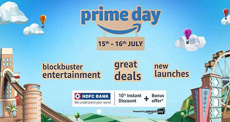 Prime Day | Upto 80% Off + Extra 10% HDFC Discount + Bonus Offers (15th – 16th July)