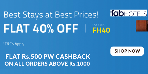 Exclusive Offer | Flat Rs.600 Off On Hotels Bookings Of Rs.2,000 & Above + Rs.500 PW Cashback