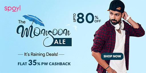 MONSOON SALE | Upto 80% Off on Fashion + 35% PW Cashback