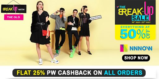 THE BREAKUP SALE | Flat 50% Off on Everything + Flat 25% PW Cashback on Orders over Rs 850