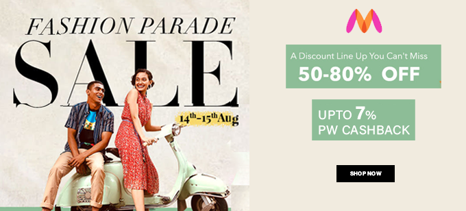 Fashion Parade | Flat 50% To 80% Off On Top Brands (14-15 Aug)