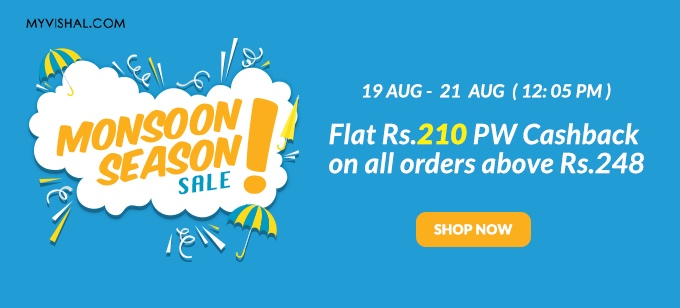 Upto 70% Off on Men's & Women's Fashion + Rs.210 PW Cashback on orders Over Rs.248