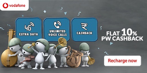 SMALL RECHARGE | Vodafone Recharge Pack, Starting at Rs.9