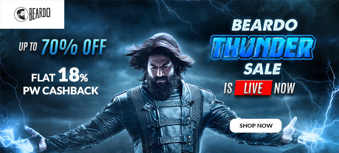 BEARDO THUNDER SALE IS LIVE | Upto 70% Off on Beardo Trending Products, Starting at Rs.108