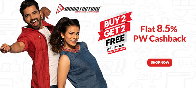 BUY2 GET2 FREE | Flat 30-60% Off on Top Brands Clothing & Accessories, Starting at Rs.200