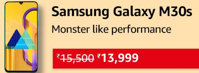 Great Indian Festival | Buy Samsung Galaxy M30s at Rs.13999