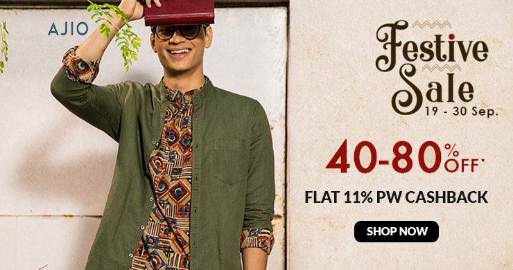 Festive Sale | Flat 40%-80% Off + Extra 15% Off On Rs.3,990 + Extra 10% HDFC CB On Select Range