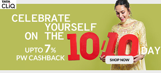 TEN / TEN SALE | Upto 70% Off + Save 20% (10% Instant Discount + 10% Cashback) With HDFC Bank (10th-14th Oct)