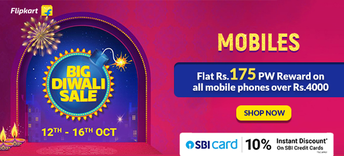 BIG DIWALI SALE | Upto 50% Off on Mobiles, Tablets + Rs.175 PW Reward on Order of Rs.4000
