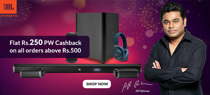 JBL FESTIVE SALE | Upto 50% Off on JBL Products + Rs 250 Cashback on Orders over Rs 500