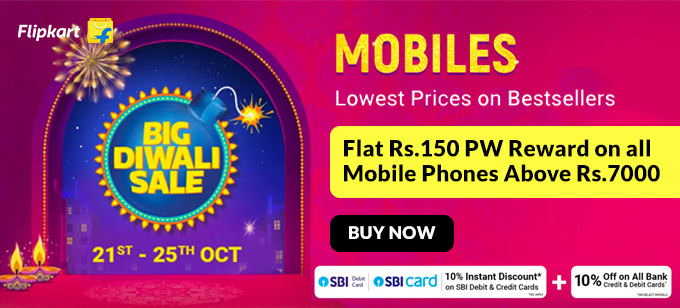 BIG DIWALI SALE | Upto 50% Off on Mobiles, Tablets + Get Up to Rs.150 PW Reward on Order of Above Rs.7000 + YouTube Premium Free Trial