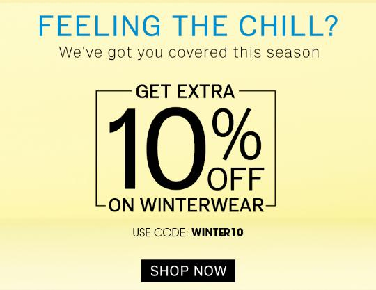 FEELING THE CHILL | Upto 50% Off + Extra 10% Off On Winter Wear, Starting at Rs.130