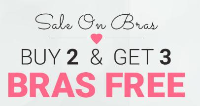 Buy 2 Bras Get 3 Free + FREE SHIPPING