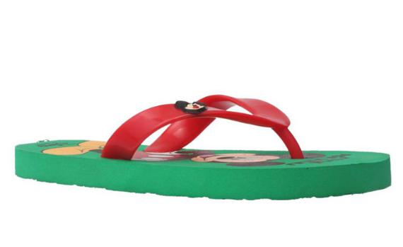 Bata Green Chappals For Girls