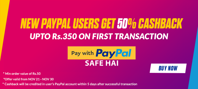 PayPal Offers on Gift Card