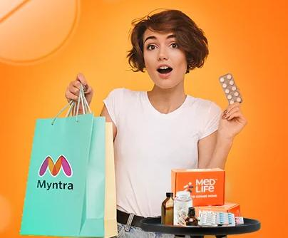 MEDLIFE |FREE Myntra Voucher worth Rs.500 on First Prescribed Medicines Order