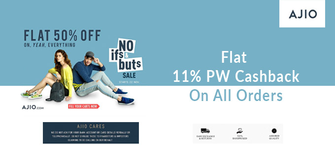 No If's & But's SALE  Flat 50% Off + Extra 10% HDFC CB On Almost Everything
