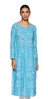 Amazon-Brand-Tavasya-Women's-A-Line-Kurti-Best-Kurtas-at-75%-OFF-Amazon