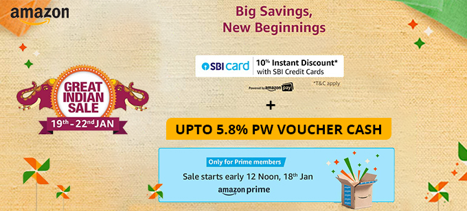 GREAT INDIAN SALE | Upto 80% Off across Categories + 10% Instant Discount SBI Credit Cards