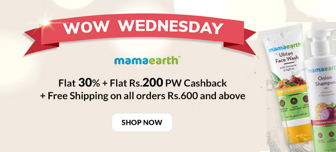 WOW WEDNESDAY SALE| Flat 30% + Rs.200 Cashback on Orders of Rs.699 + FREE SHIPPING