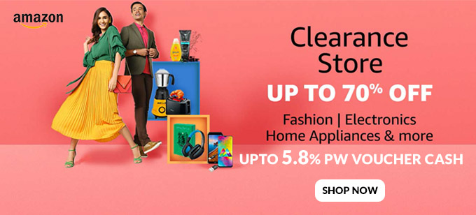 CLEARANCE STORE | Upto 70% Off on Fashion, Electronics, Home Appliances & More