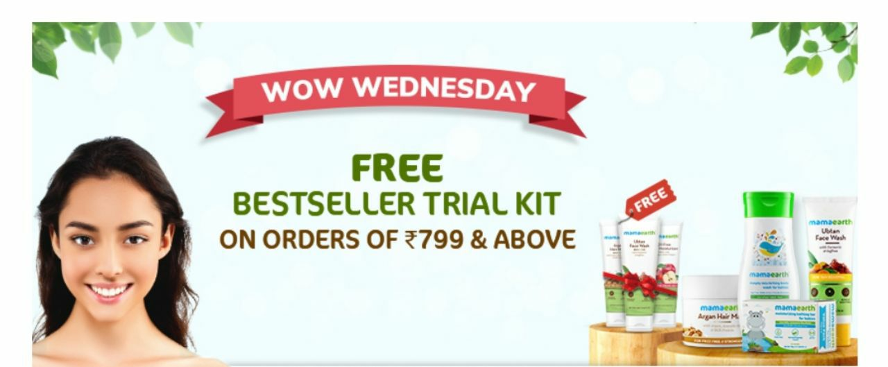 WOW WEDNESDAY SALE| Shop for Rs.799, Get 3 Products FREE + Rs.200 PW Cashback