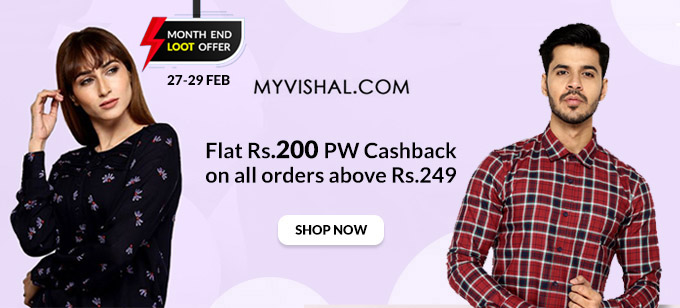 MONTH END SALE | Flat 50-70% Off on Men's Fashion + Rs.200 PW Cashback on orders Over Rs.249