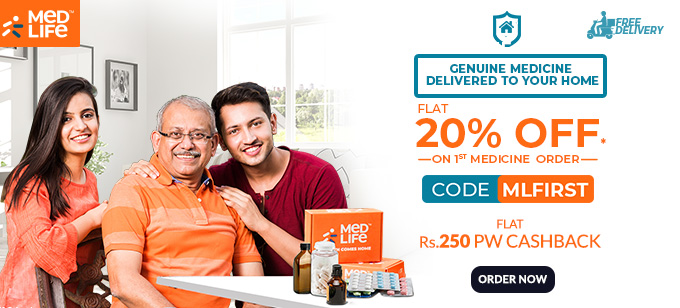 EXCLUSIVE | Flat 20% Off on First Medicine Order + Flat Rs.250 PW Cashback on Order of Rs.1000