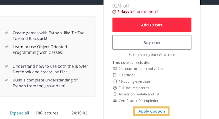 Apply Udemy Coupon Code