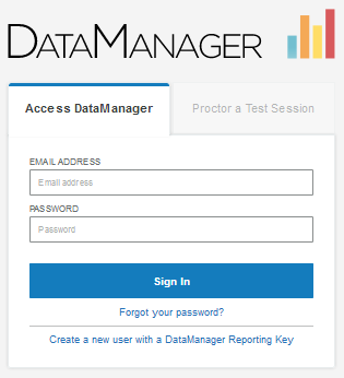 DataManager sign-in form (non-Proctor)