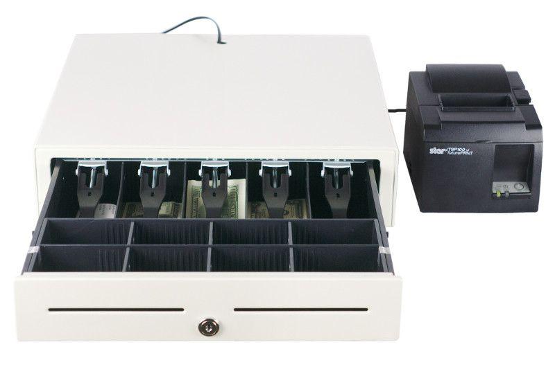 cash drawer with printer