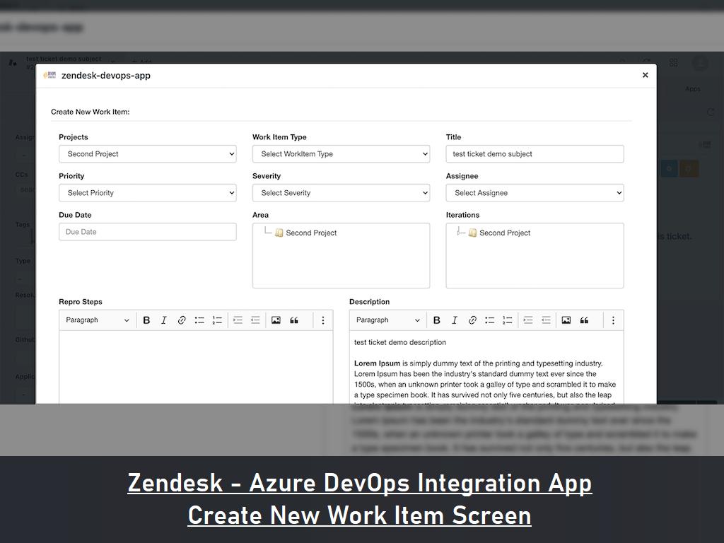 Zendesk AzureDevops Connector, Freshdesk AzureDevops Connector, Freshservice AzureDevops Connector, Zendesk - Azure DevOps Integration, Freshdesk - Azure DevOps Integration, Freshservice - Azure DevOps Integration