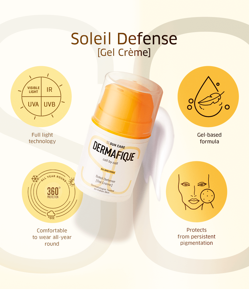 Soleil Defense is a suitable sunscreen for Indian skin that protects your skin from ultraviolet rays, visible light and infrared rays