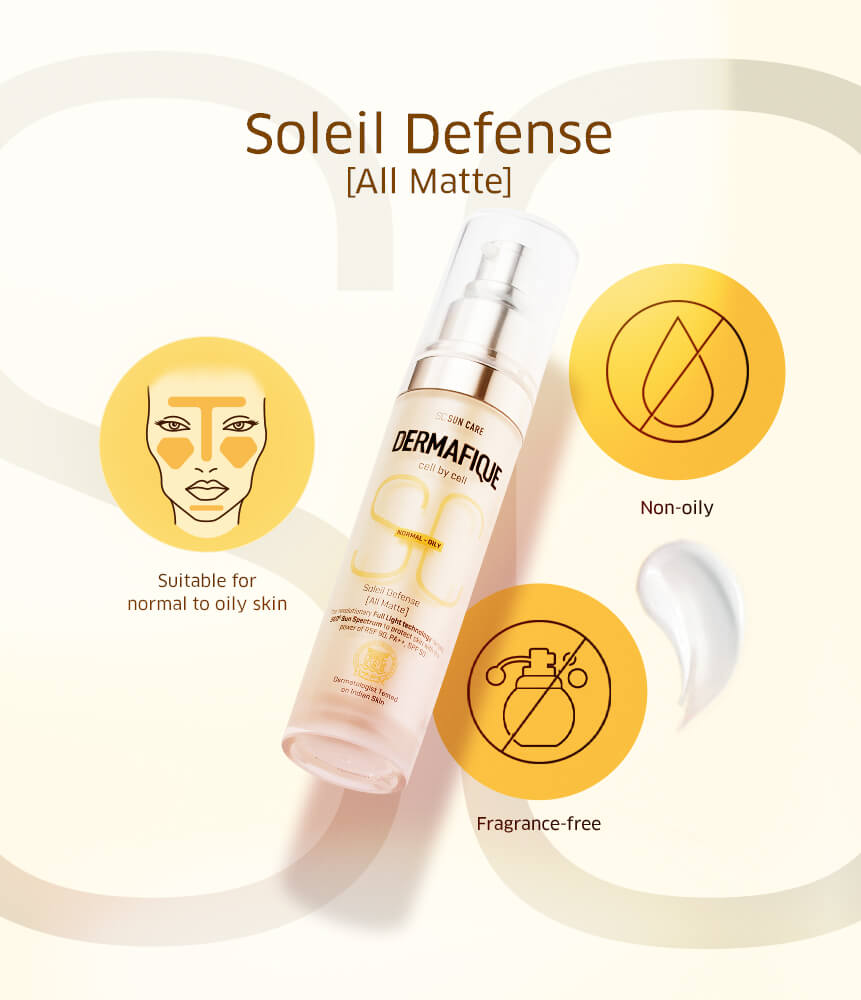 Soleil Defense is a suitable sunscreen for oily skin that protects your skin from ultraviolet rays, visible light and infrared rays