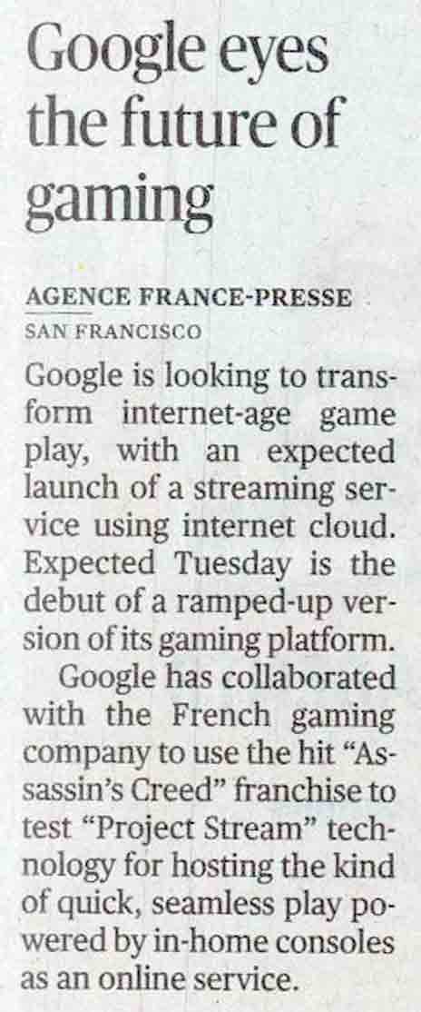 Google eyes the future of gaming