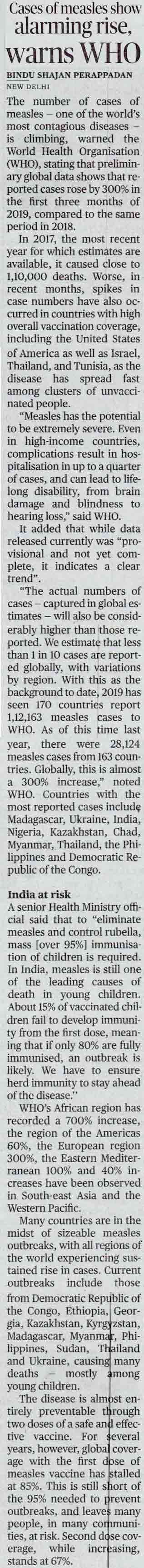 Cases of measles show alarming rise, warns WHO