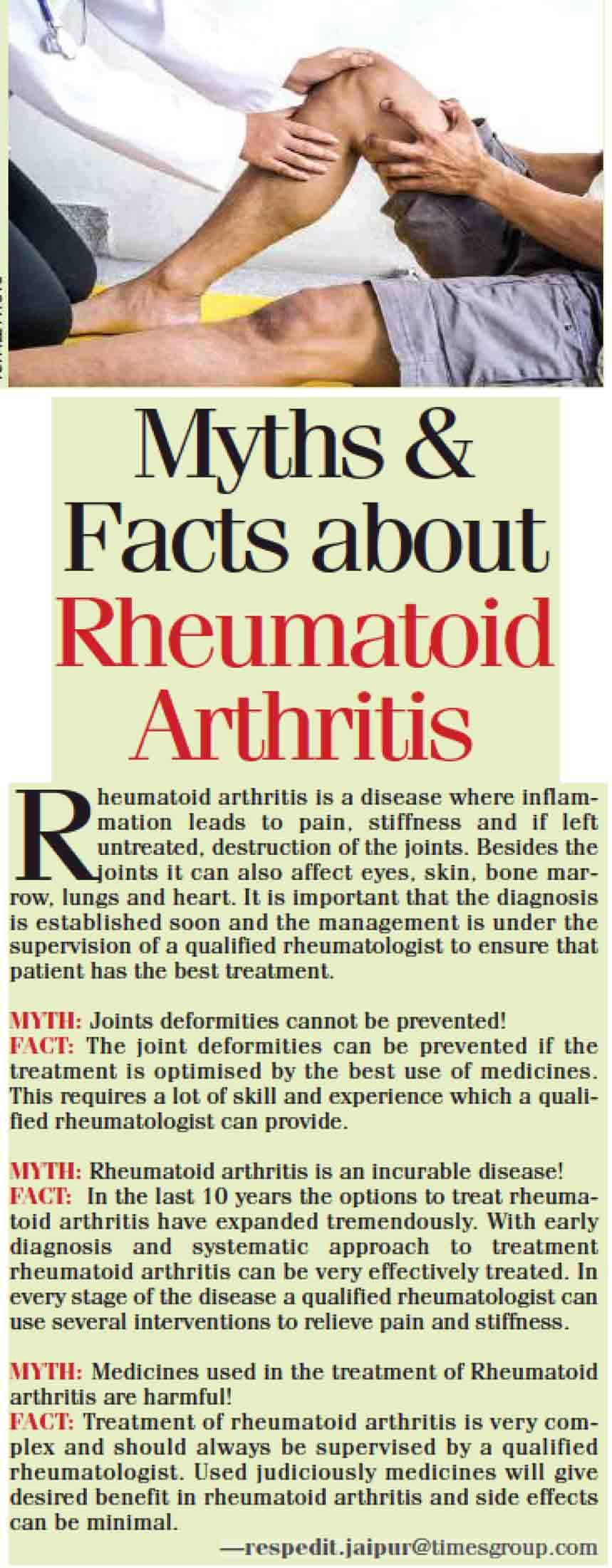 Myths & facts about rheumatoid arthritis