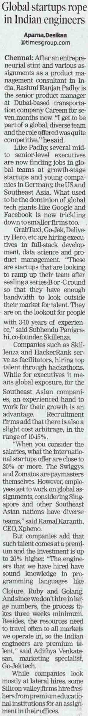 Global startups rope in Indian engineers