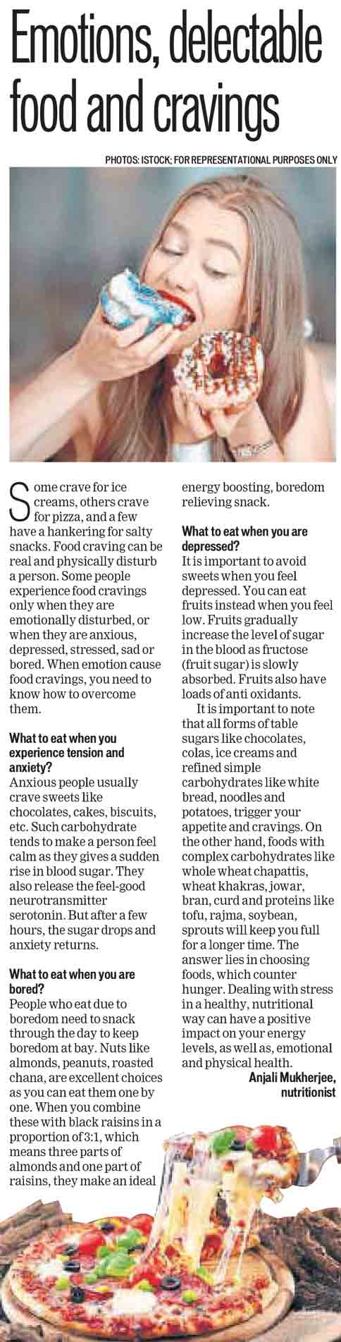 Emotions, delectable food and cravings