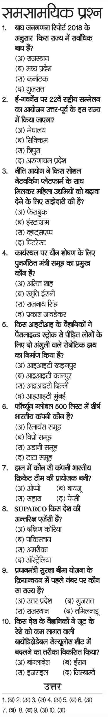 GK for competitive exams