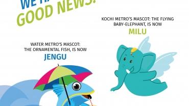 Kochi Metro Names Its Mascots Milu And Jengu