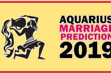 Aquarius Marriage Horoscope 2019