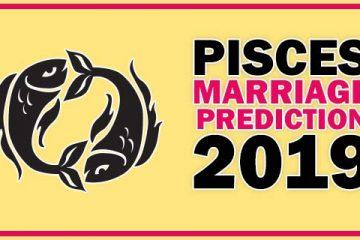 Pisces Marriage Horoscope 2019