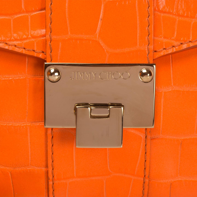 dc6eeab4e53 Jimmy Choo Rivera Crocodile-Effect Leather Envelope Clutch ...